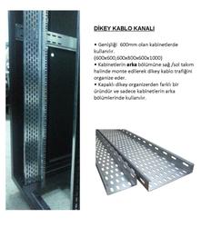 FormRack - 16U Dikey Kablo Kanalı Sağ-Sol Tk