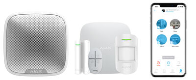 Kablosuz Alarm Seti - Hub+Siren+M.Kontak+Pır+Kumanda