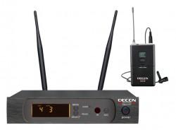 Decon - UHF Dijital Çift Anten 100 Kanal Yaka Tipi Telsiz Mikrofon