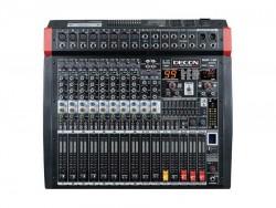 Decon - 8 Kanal Mono / 2 Kanal Stereo Power Mixer (2x650Watt)