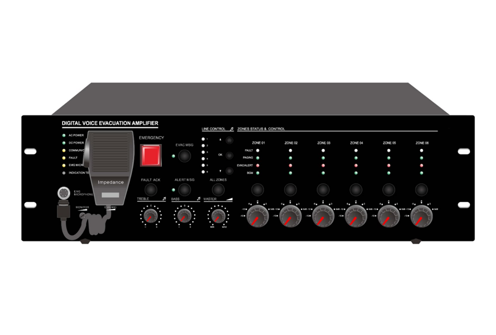 Decon - 6 Zone EVAC Controller, Built-in 500W Class-D Amplifier