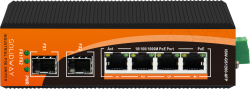 Solidway - 4 Port 10/100/1000M PoE Port +2 Port Gigabit SFP Port (120 Watt), Endüstriyel PoE Gigabit Ethernet Switch (Unmanaged)
