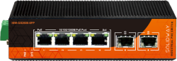 Solidway - 4 Port 10/100/1000M PoE Port +2 Port Gigabit SFP + 1 Port Console Port (120 Watt), Endüstriyel PoE Gigabit Ethernet Switch (Layer2/L2+)