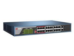 Hikvision - 24 Port 10/100 PoE + 2 Port Gigabit Uplink + 2 SFP Switch