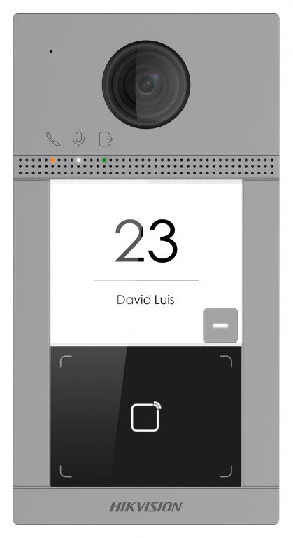 Hikvision - 2.0MP IRLED - Wİ-Fİ Kameralı Zil Paneli (1 Abone)