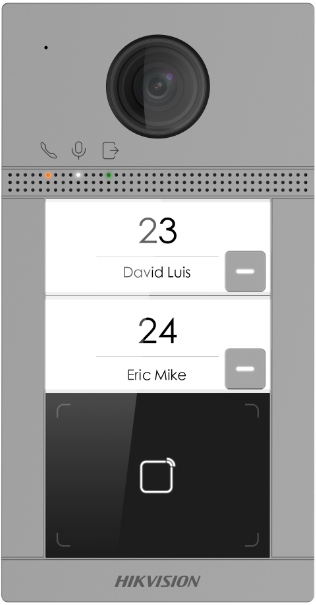 Hikvision - 2.0MP IRLED - Wİ-Fİ Kameralı Zil Paneli (2 Abone)