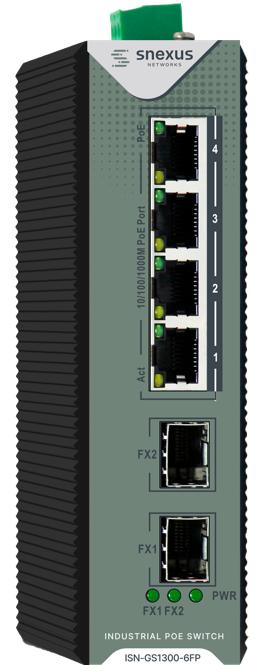 Snexus - 4 x 10/100/1000M PoE Port +2 x Gigabit SFP Port (120 Watt)