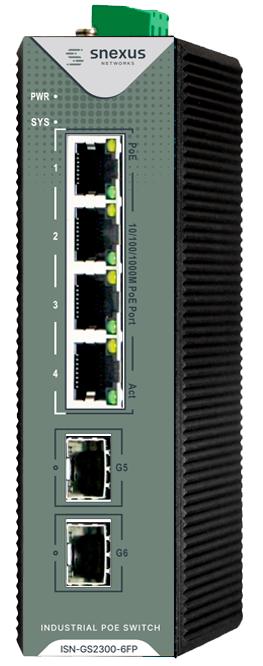 Snexus - 4 x 10/100/1000M PoE Port +2 x Gigabit SFP + 1 x Console Port (120 Watt)