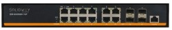 Solidway - 8 Port 10/100 /1000M Port + 4 Port SFP Fiber Port + 1 Port Console Port, Web Yönetilebilir Gigabit Network Switch