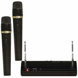 Topp Pro - UHF Çift Anten Analog Alıcı El Tipi Telsiz Mikrofon Seti