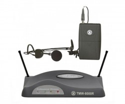 Topp Pro - UHF Çift Anten Analog Alıcı Yaka - Headset Ve Entruman Tipi Telsiz Mikrofon