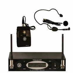 Topp Pro - UHF 144 Kanal Çift Anten Dijital Alıcı Yaka - Headset Ve Entruman Tipi Telsiz Mikrofon Seti