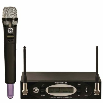 UHF 144 Kanal Çift Anten Dijital Alıcı El Tipi Telsiz Mikrofon Seti