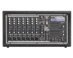 Topp Pro - 2x400 Watt 6 Mono 2 Stereo 10 Kanal Power Mikser
