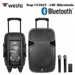 Westa - 15 inc Bataryalı Aktif Kabin Hoparlör (2xUHF Mikrofon)
