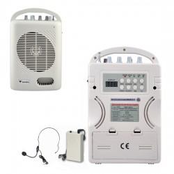 Westa - 50 Watt Yaka - El - Headset Tipi Telsiz Mikrofonlu Taşınabilir Akülü Hoparlör