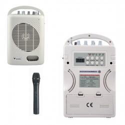 Westa - 50 Watt El Tipi Telsiz Mikrofonlu Taşınabilir Akülü Hoparlör
