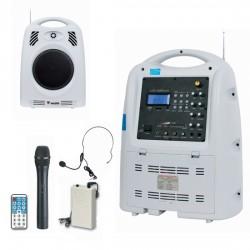 Westa - 130 Watt Yaka - El - Headset Telsiz Mikrofonlu Taşınabilir Akülü Hoparlör