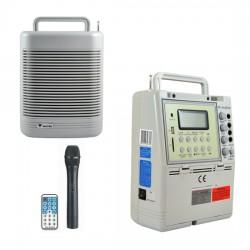 Westa - 60 Watt El Tipi Telsiz Mikrofonlu Taşınabilir Akülü Hoparlör