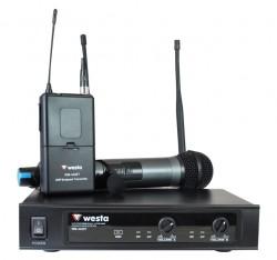 Westa - UHF Bir El Bir Yaka Tipi Telsiz Mikrofon