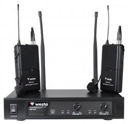 Westa - UHF Çift Yaka Tipi Telsiz Mikrofon