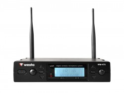Westa - 2 Kanal UHF Telsiz Mikrofon Receiver