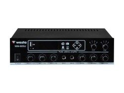Westa - 100 Watt 2 Bölge USB/MP3/Bluetooth Hat Trafolu LCD Ekran Mikser Amplifier
